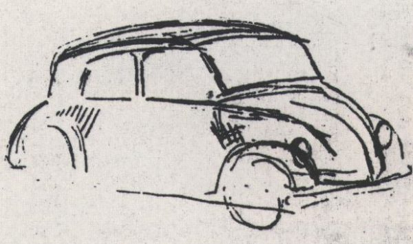sketch volkswagen 600x354 HITLER FLOWER POWER