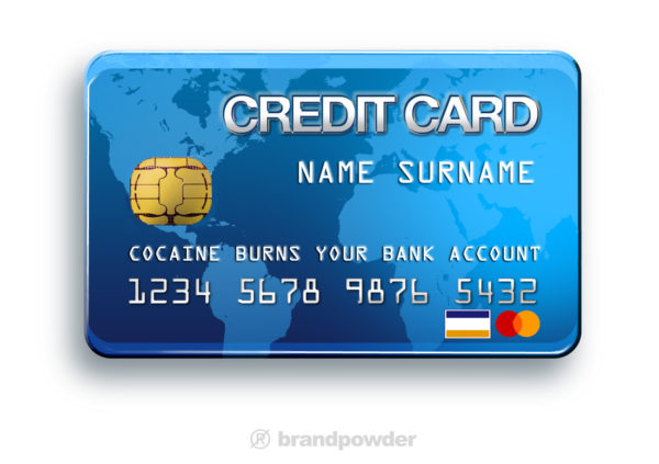 creditcardcocaine 600x423 MEDIADOPE (drugs are the media)