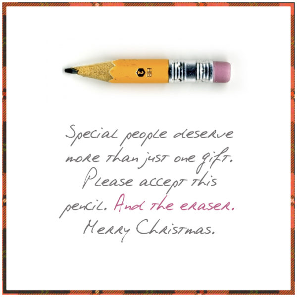 christmas pencil 600x600 10 CHEAP & BRILLIANT GIFTS FOR CHRISTMAS