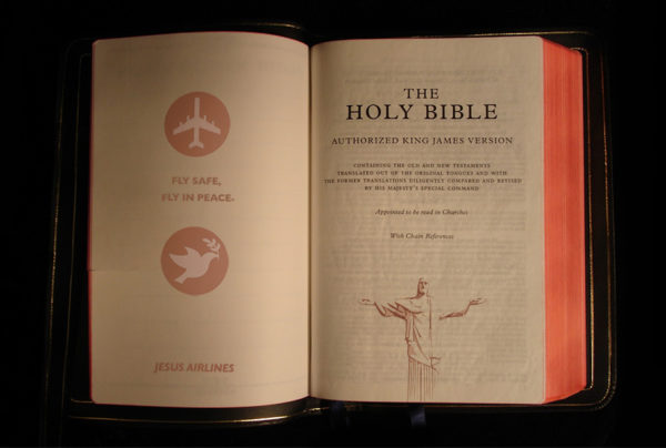 jesus holy bible 600x404 JESUS AIRLINES