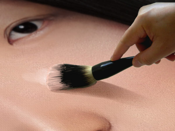 painting small face