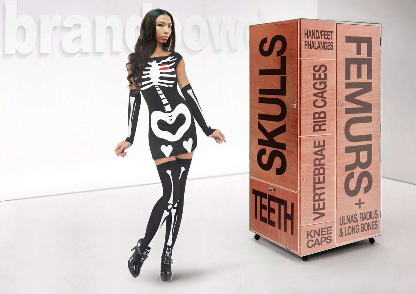 skeleton hostess